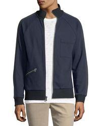 ATM - Double-knit Zip-front Sweatshirt - Lyst