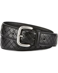 Bottega Veneta - Scolpito Scored Leather Belt - Lyst