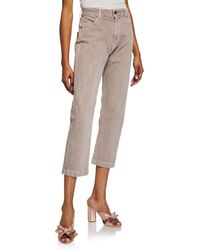 The Great - The Rambler Corduroy Cropped Straight Leg Pants - Lyst