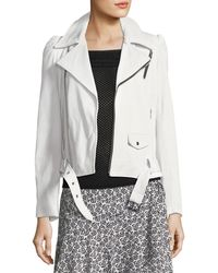 A.L.C. - Calix Leather Moto Jacket With Lace-up Sides - Lyst