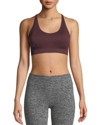Tory Sport - Seamless Racerback Medium-impact Sports Bra - Lyst