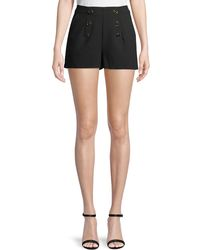 Cupcakes And Cashmere - Eli Crepe Shorts With Buttons - Lyst