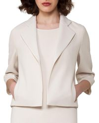 Akris - Bracelet-sleeve Cropped Wool-crepe Jacket - Lyst