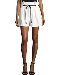 3.1 Phillip Lim - Pleated Paperbag-waist High-rise Shorts - Lyst