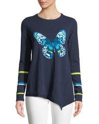 Lisa Todd - Butterfly Asymmetric Cotton Sweater - Lyst