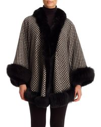 Gorski - Cashmere Capelet With Fox Fur Trim - Lyst
