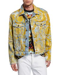926d338eb Versace Baroque Print Shell Jacket in Black for Men - Lyst