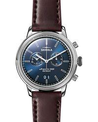 Shinola - Men's 42mm Bedrock Chronograph Watch - Lyst