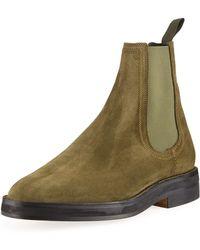 Yeezy - Suede Chelsea Boot - Lyst