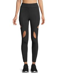 Cushnie et Ochs - High-waist Cutout-knee Active Leggings - Lyst