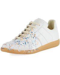 Maison Margiela - Men's Replica Paint-splatter Low-top Sneakers - Lyst