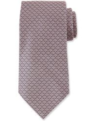 Ermenegildo Zegna Men's Silk Woven Tiles Tie Pink
