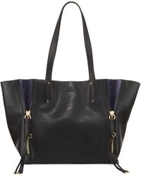 Chloé - Milo Medium Leather & Suede Tote Bag - Lyst