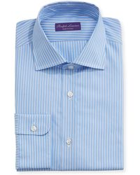 Ralph Lauren - Alternating Stripe Cotton Dress Shirt - Lyst