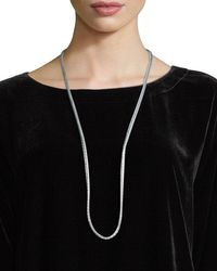 Eileen Fisher | Hand-beaded Silk Ribbon Necklace | Lyst