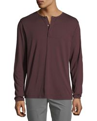 Theory - Men's Plaito Clean Henley Shirt - Lyst