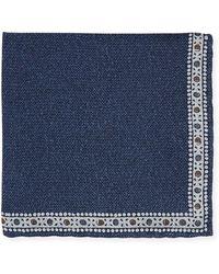 Edward Armah - Men's Solid Pocket Square W/ Printed Border - Lyst