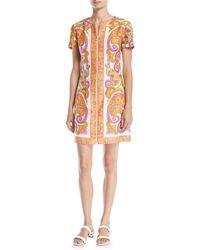 Trina Turk - Arboretum Paisley Cotton Dress W/ Zipper Front - Lyst