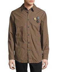 Daniel Won - Cotton Fishtail-hem Shirt Jacket With Patches - Lyst