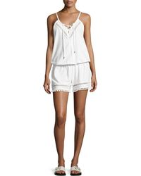 Ella Moss | Juliet Solids Sleeveless Romper Coverup | Lyst