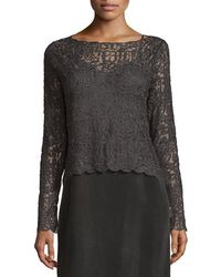 NIC+ZOE - Brushed Lace Long-sleeve Top - Lyst