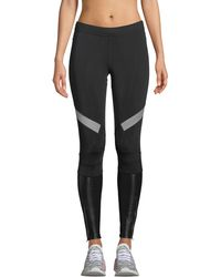 adidas By Stella McCartney - Mid-rise Paneled Running Tights - Lyst