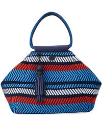 Tory Sport - Woven Mesh Triangle Satchel Bag - Lyst