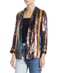 Alice + Olivia - Keir Sequin Embellished Pajama-style Top - Lyst