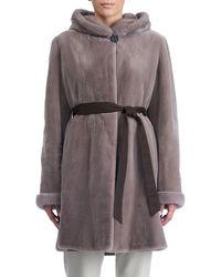 Gorski - Sheared Mink Hooded Reversible Coat - Lyst