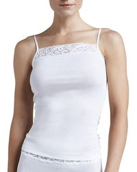 Hanro - Moments Lace-trimmed Camisole - Lyst