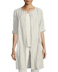 Eileen Fisher - Rumpled Organic Cotton Jacket - Lyst