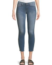 Etienne Marcel - Embroidered-strip Skinny-leg Ankle Jeans - Lyst