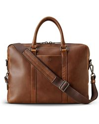 Shinola - Men's Navigator Leather Laptop Briefcase - Lyst