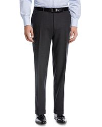 Canali - Heathered Flat-front Pants - Lyst