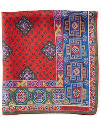 Etro - Double-sided Silk Pocket Square - Lyst