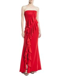 Jay Godfrey - Steele Strapless Ruffle A-line Evening Gown - Lyst
