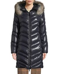 Moncler - Fulmar Hooded Puffer Coat W/ Removable Fur Trim - Lyst