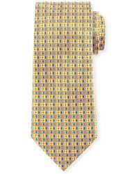 Ermenegildo Zegna - Four-petal Floral Printed Silk Tie - Lyst