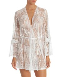 Jonquil - Sutton Short Lace Robe - Lyst