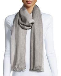 Eileen Fisher - Heathered Alpaca-silk Blend Wrap Ash - Lyst