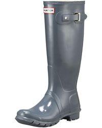 HUNTER - Tall Gloss Boots - Lyst