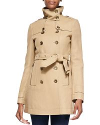 Burberry Brit - Funnel-collar Trench Coat - Lyst