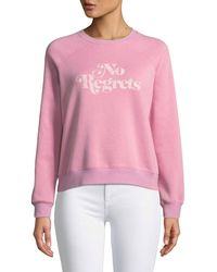 Rebecca Minkoff - No Regrets Graphic Crewneck Sweatshirt - Lyst