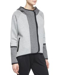 Elie Tahari - Margie Hooded Off-Center-Zip Jacket & Eve Colorblock Track Pants - Lyst