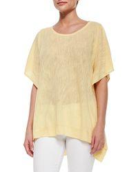 Belford - Cold-shoulder Linen-blend Pullover - Lyst