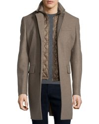 Burberry Brit - Lyndson Wool-blend Coat With Removable Gilet - Lyst