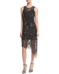 Parker Black - Danica Sleeveless Dress W/ Sparkle Overlay - Lyst