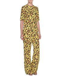 Marni - Half-sleeve Abstract-print Jumpsuit - Lyst