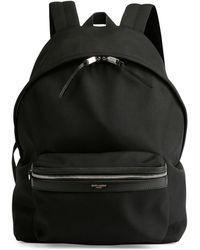 Saint Laurent - Solid Nylon Backpack - Lyst