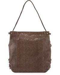 orYANY - Jessica Embossed-Leather Shoulder Bag - Lyst